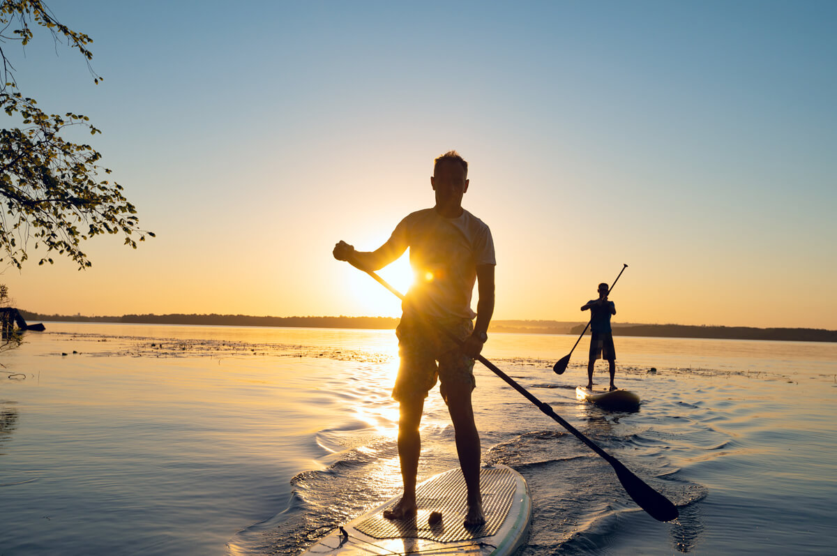 Relieve stress with stand up paddle boarding